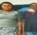 Mr Eze and his wife before the surgery