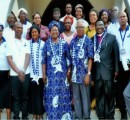 Executive of the Bible Society of Nigeria (BSN) with the Guest Lecturer, Dr. Mrs C.U. Njoku, and her  entourage in a group photograph with Bishop Geoffrey Okorafor (3rd from left) and wife,  Bishop  Edward Osuegbu (3rd from right)  and Hon Sir Levi Oguike during the  BSN's Golden Jubilee Celebration