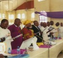 Bishop Maduwike and wife, Mrs Anuli Maduwike singing at the just-concluded ACFF/AMF  Conference  at St. Peter's Anglican Church Umuoziri Inyishi