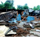 Ruins of a property allegedly owned by a kipnapper in Ohaji  destroyed during the operation 'Oshe bee' recently