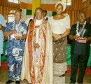 Ven. Zion Ngoka and wife, Chizor with some awardees at the CMS Anniversary service of Christ's  Church Archdeaconry, recently in Owerri.