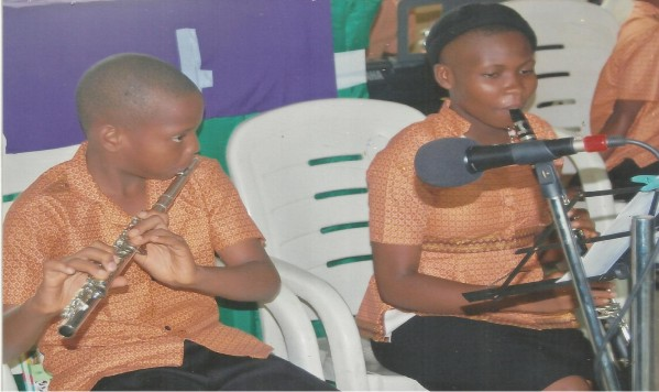 Catching them young for Christ.  St. Silas (Ang) Church Amawire Junior Orchestra perform at a church service recently