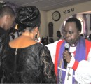 Rt. Rev. Cyril C. Okorocha, PhD, Anglican Bishop of Owerri, prays for the Oparadike  family during  the funeral service of late Sir Innocent Oparadike recently.