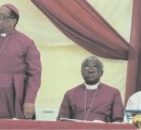 Bishop Maxwell Anikwenwa (right) with Archbishop Caleb Maduoma (centre) and another bishop at the  dedication of the Goshen Anglican Retreat Centre, Owerri, recently.