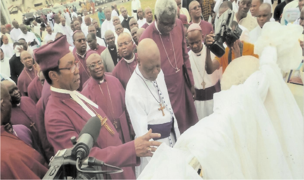Archbishops and Bishop at the dedication of the Goshen Anglican Retreat Centre in Owerri recently
