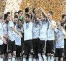 Germany celebrates after triumph against Chile
